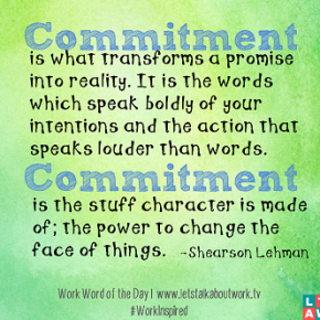 Commitment - Stand Up, Join Together