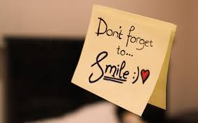 Remember to smile!