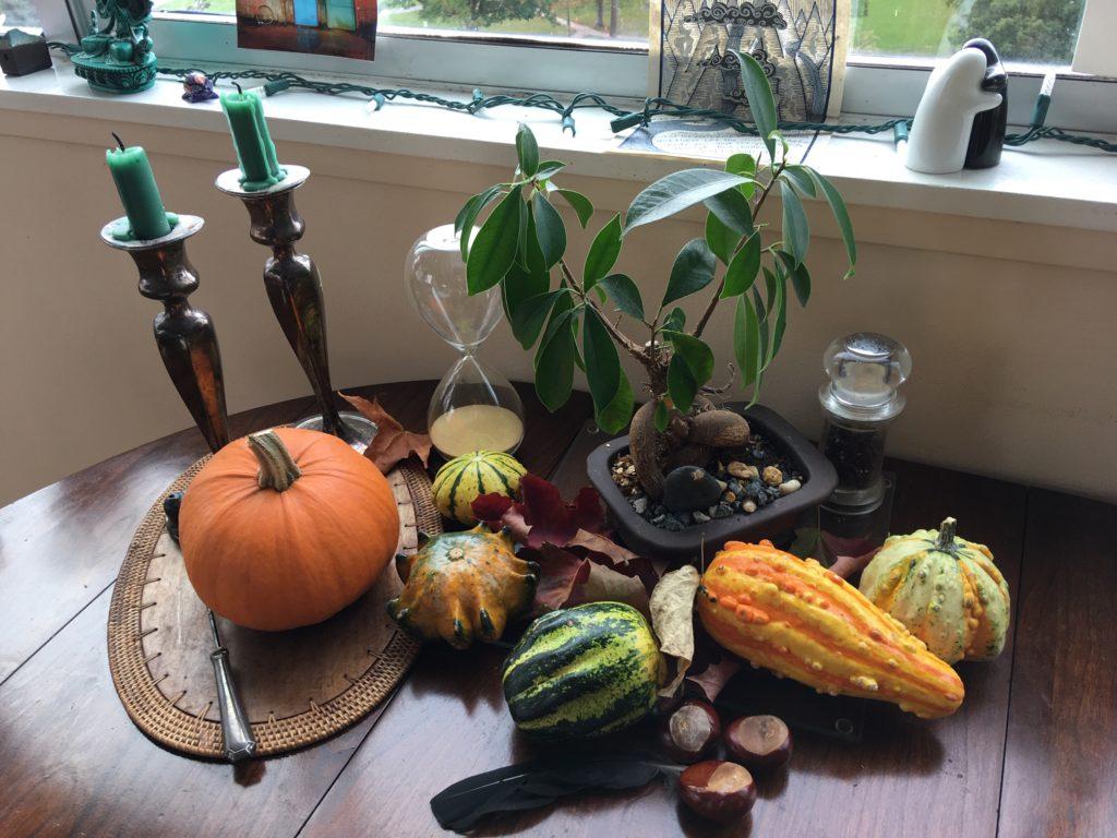 Thanksgiving bounty table