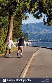 Roller blading on the Sea Wall