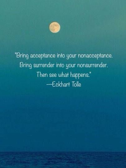 Acceptance and surrender